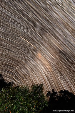 Star trail at Mara